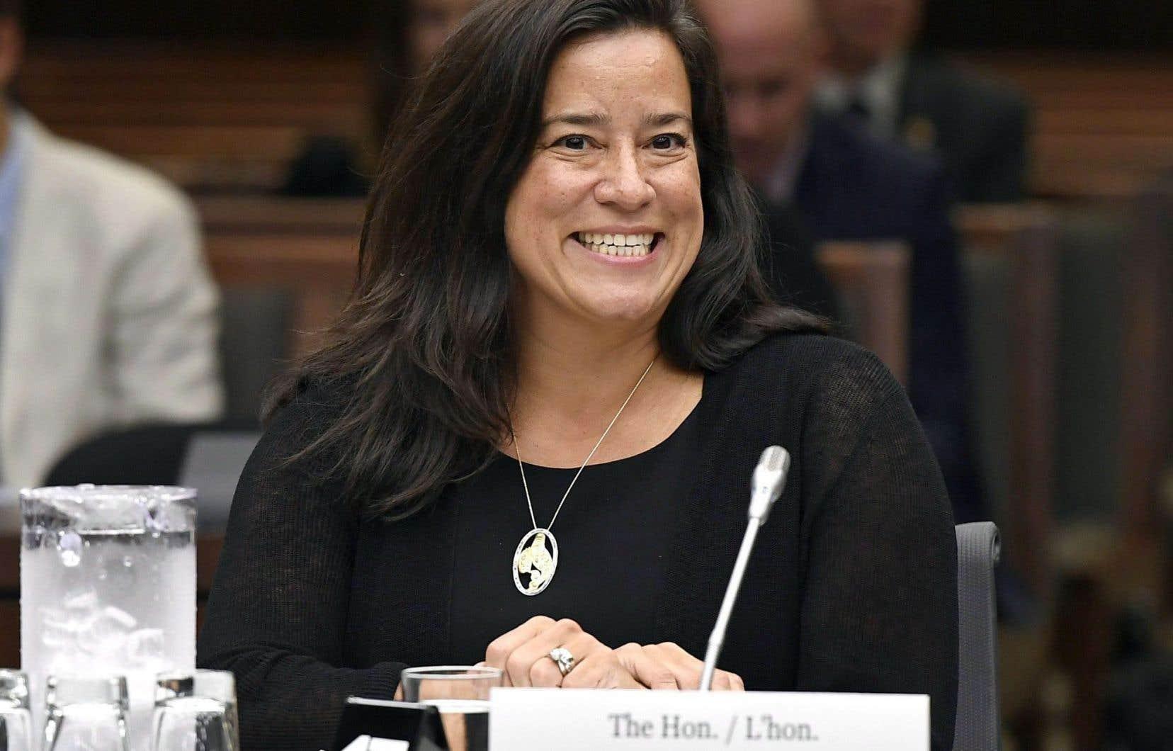 La ministre de la Justice, Jody Wilson-Raybould, lors des travaux du comité mardi