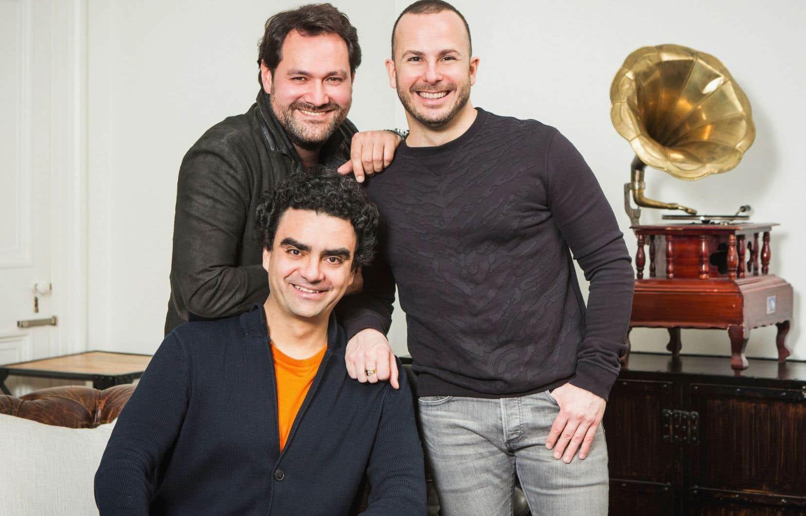 Le ténor Rolando Villazón et la basse Ildar Abdrazakov avec le chef Yannick Nézet-Séguin