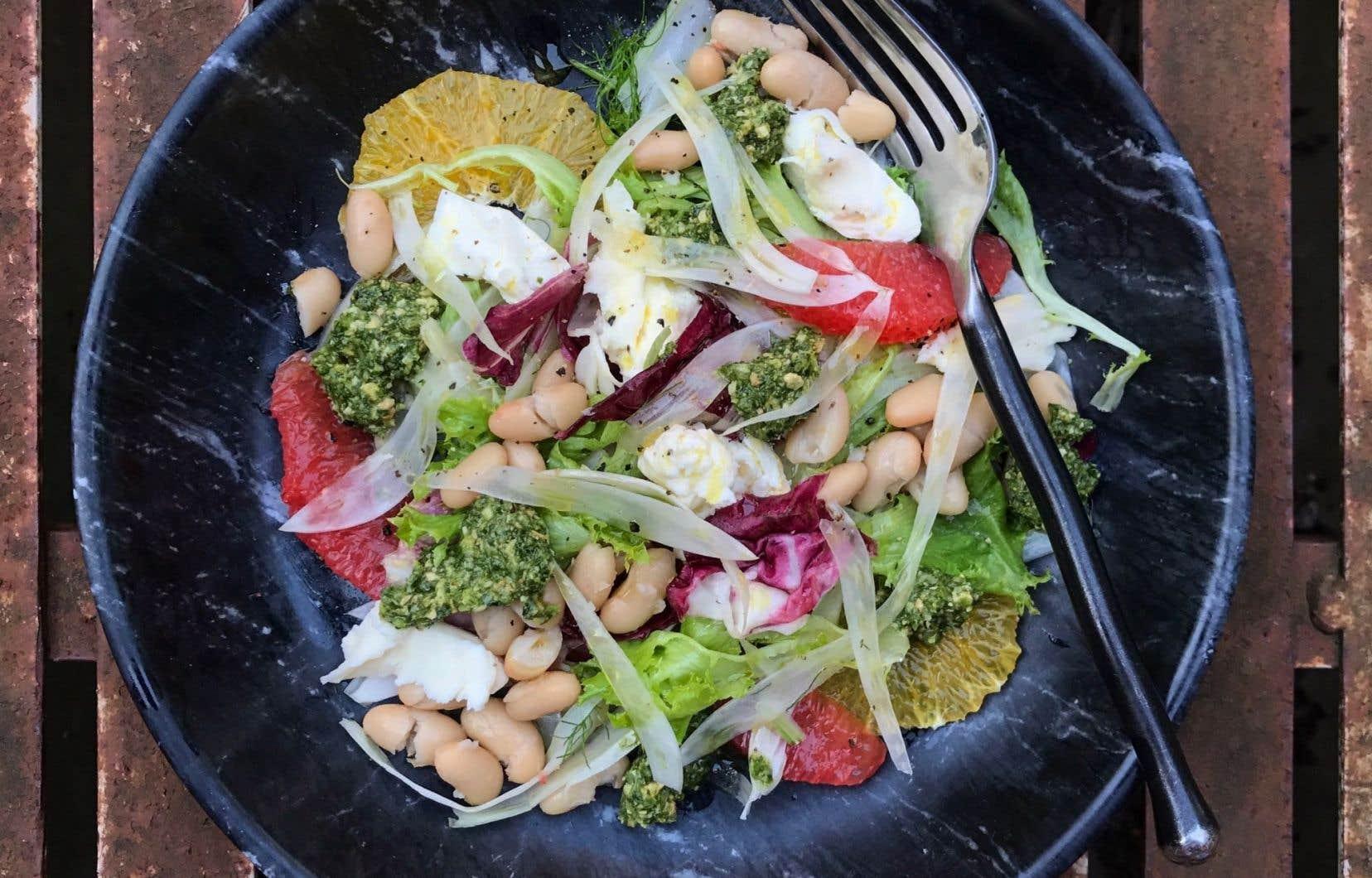 La recette de salade de fenouil, agrumes et buratta de Michael Tozzi