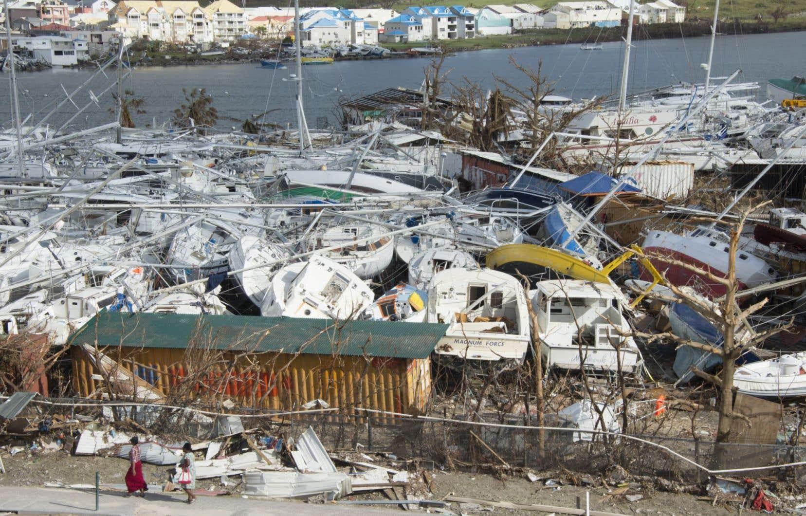 Dévastée par «Irma», l'île de Saint-Martin sera rayée de la carte des destinations touristiques pour quelques mois, voire une année.