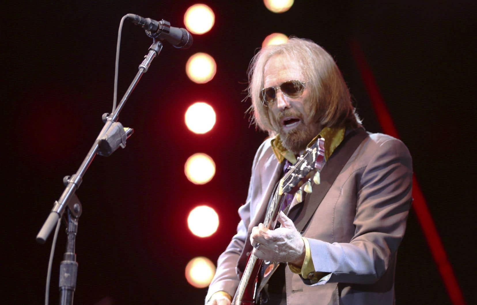 Le chanteur américain Tom Petty en concert à Pasadena, en Californie, en juin dernier