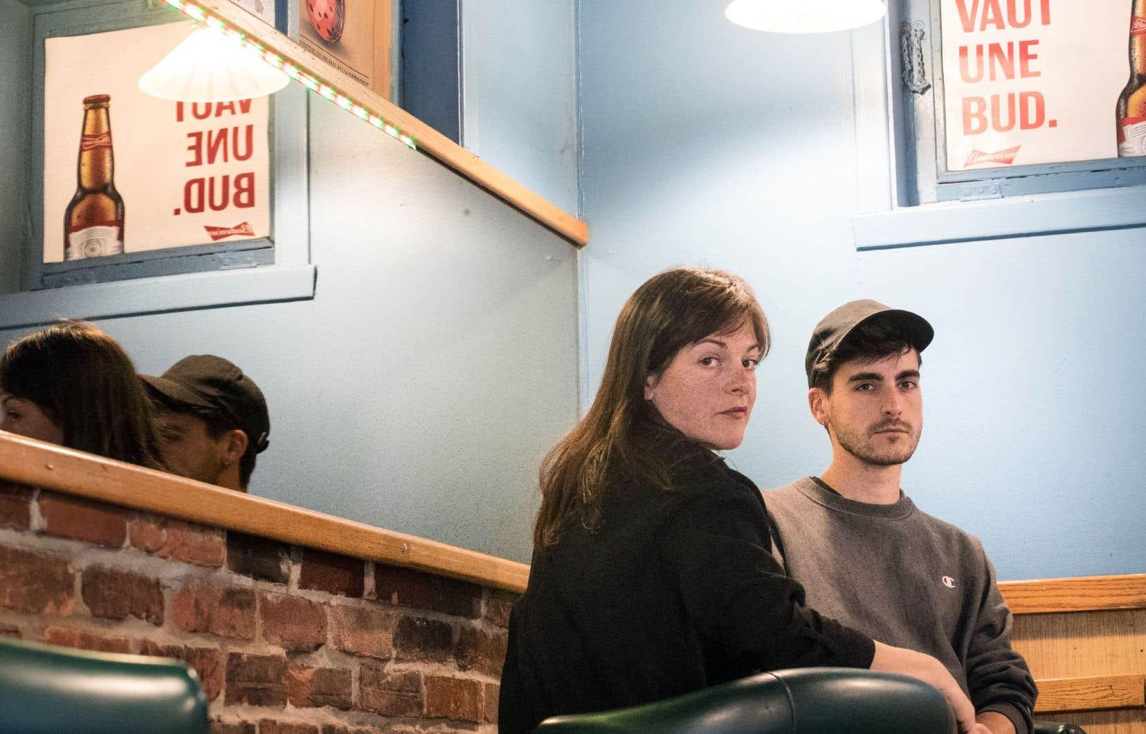Sophie Cadieux, auteure avec Dany Boudreault de «La femme la plus dangereuse du Québec», ici en compagnie du metteur en scène Maxime Carbonneau