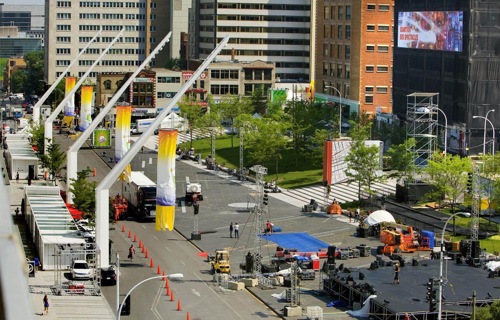 S'il est réelu, Denis Coderre promet qu'une fois le plan d'aménagement du Quartier des spectacles achevé en 2019, la ville s'attaquera à la revitalisation du Quartier latin.