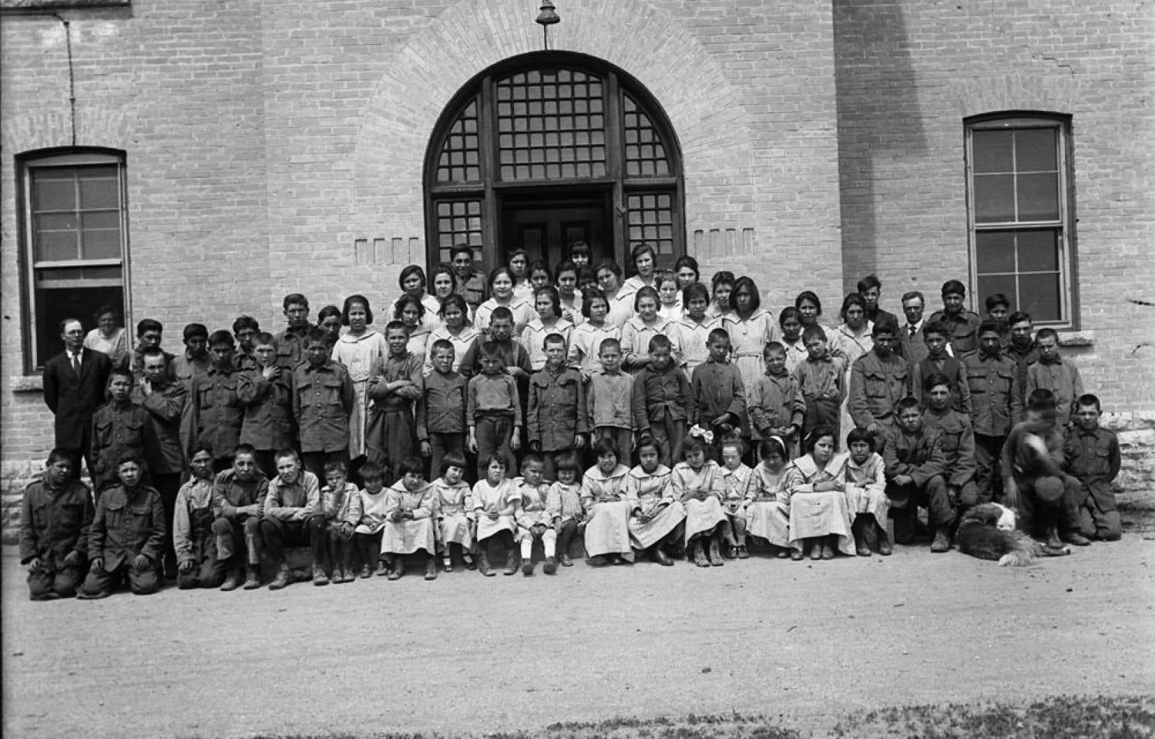 Le pensionnat autochtone de Brandon, au Manitoba, en 1946