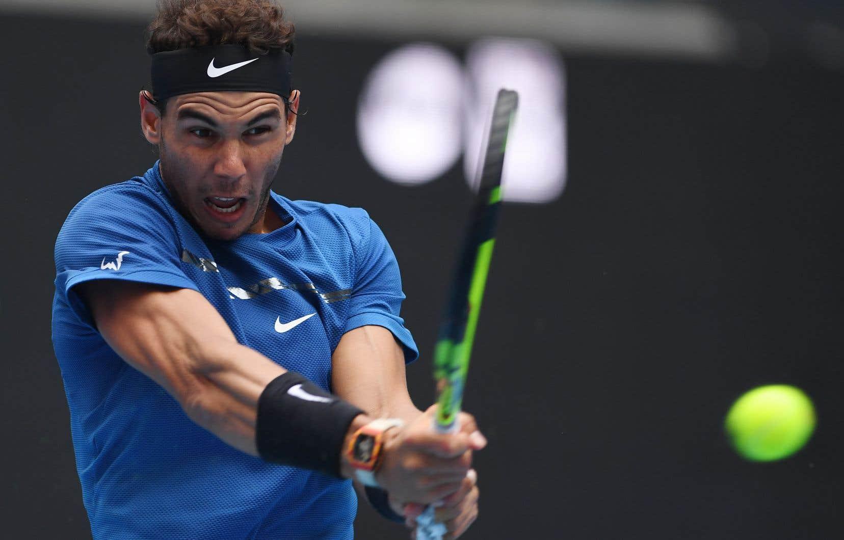 Nadal a sauvé les trois balles de bris qu'il a concédées face à Isner.