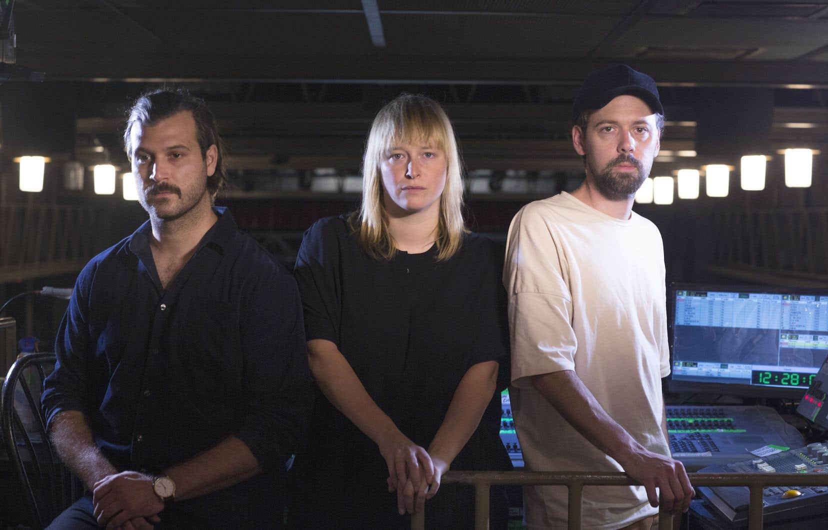 Les Dear Criminals: Vincent Legault, Frannie Holder et Charles Lavoie.