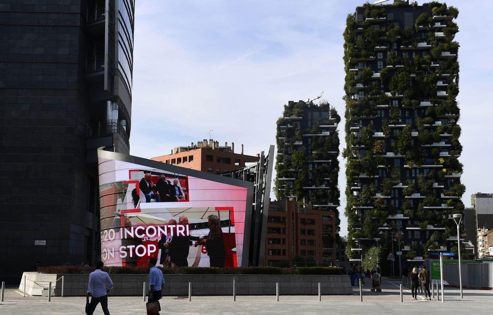 Le complexe architectural Bosco Verticale («Forêt verticale») dans la région de Porta Nuova à Milan.