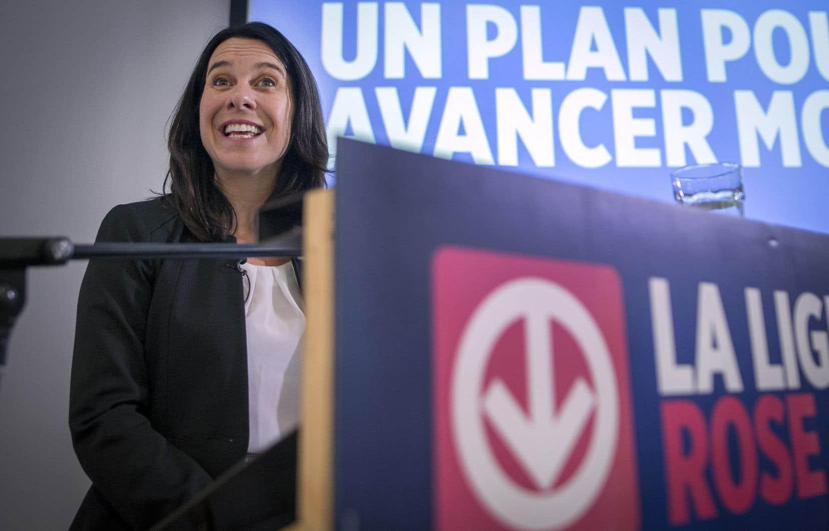 La chef de Projet Montréal, Valérie Plante, a présenté la nouvelle mouture de son projet de ligne rose du métro.