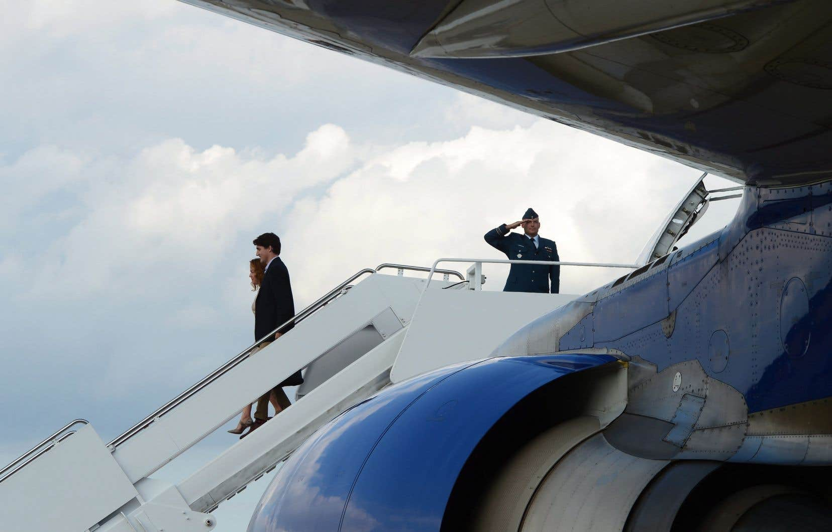 Le premier ministre canadien, Justin Trudeau, et son épouse, Sophie Grégoire, à leur arrivée à Washington, mardi