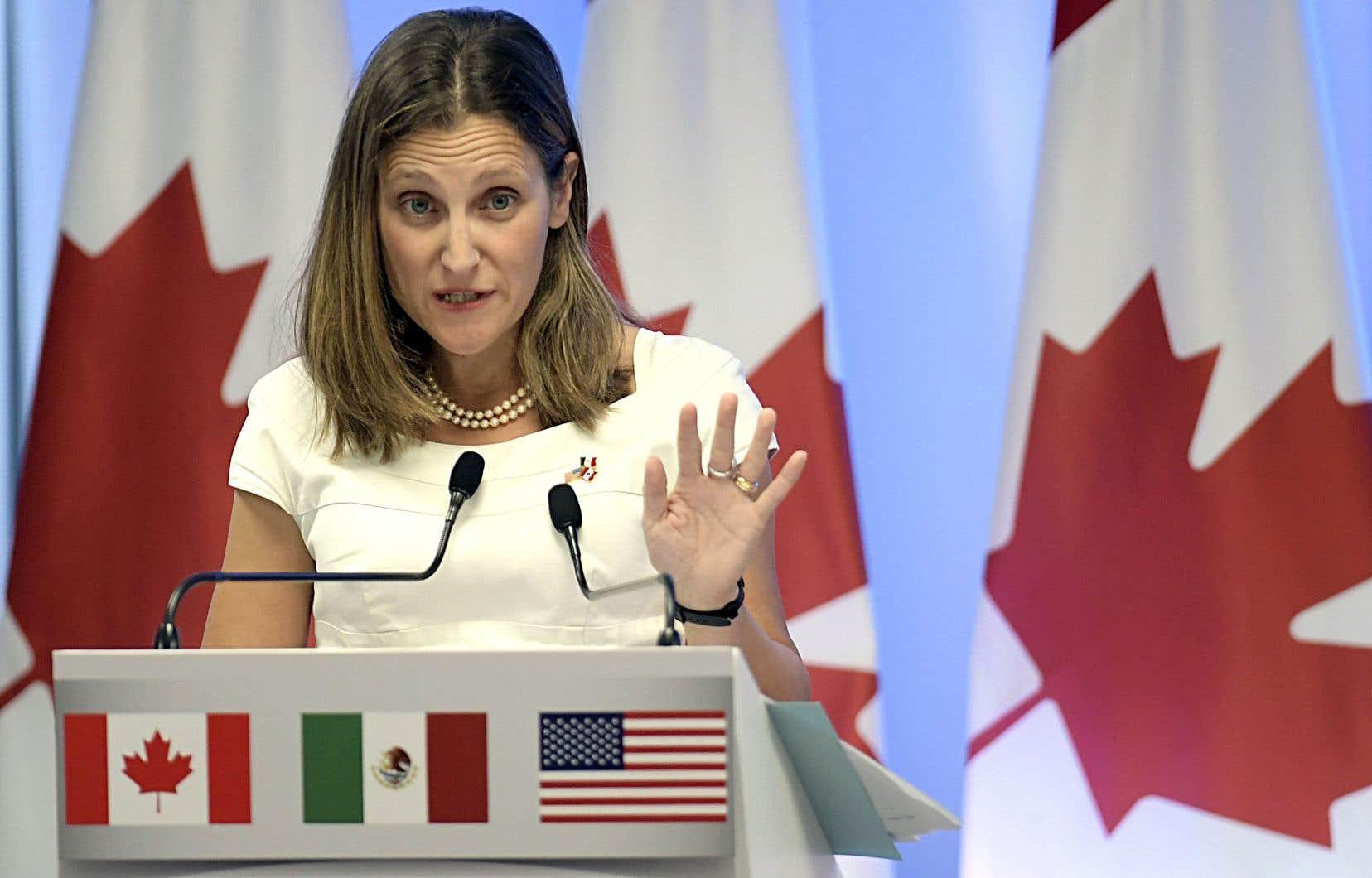 La ministre canadienne des Affaires étrangères, Chrystia Freeland, n'avait pas caché, en août, son inquiétude de voir le commerce international de plus en plus associé avec la montée des inégalités.