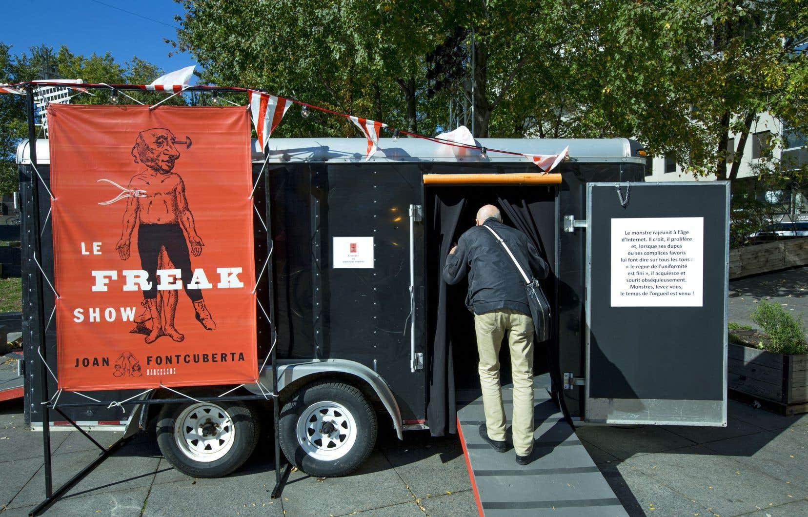 «Le Freak Show», de l'artiste Joan Fontcuberta, place les spectateurs devant l'intenable.