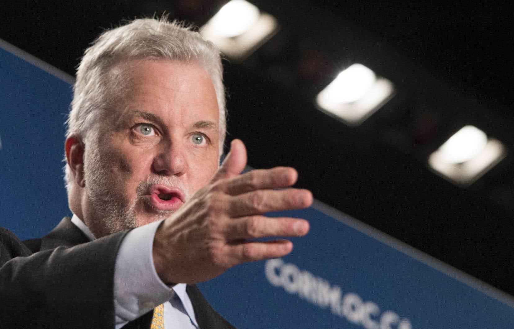 Le premier ministre du Québec, Philippe Couillard, plaide pour la coexistence des nations.