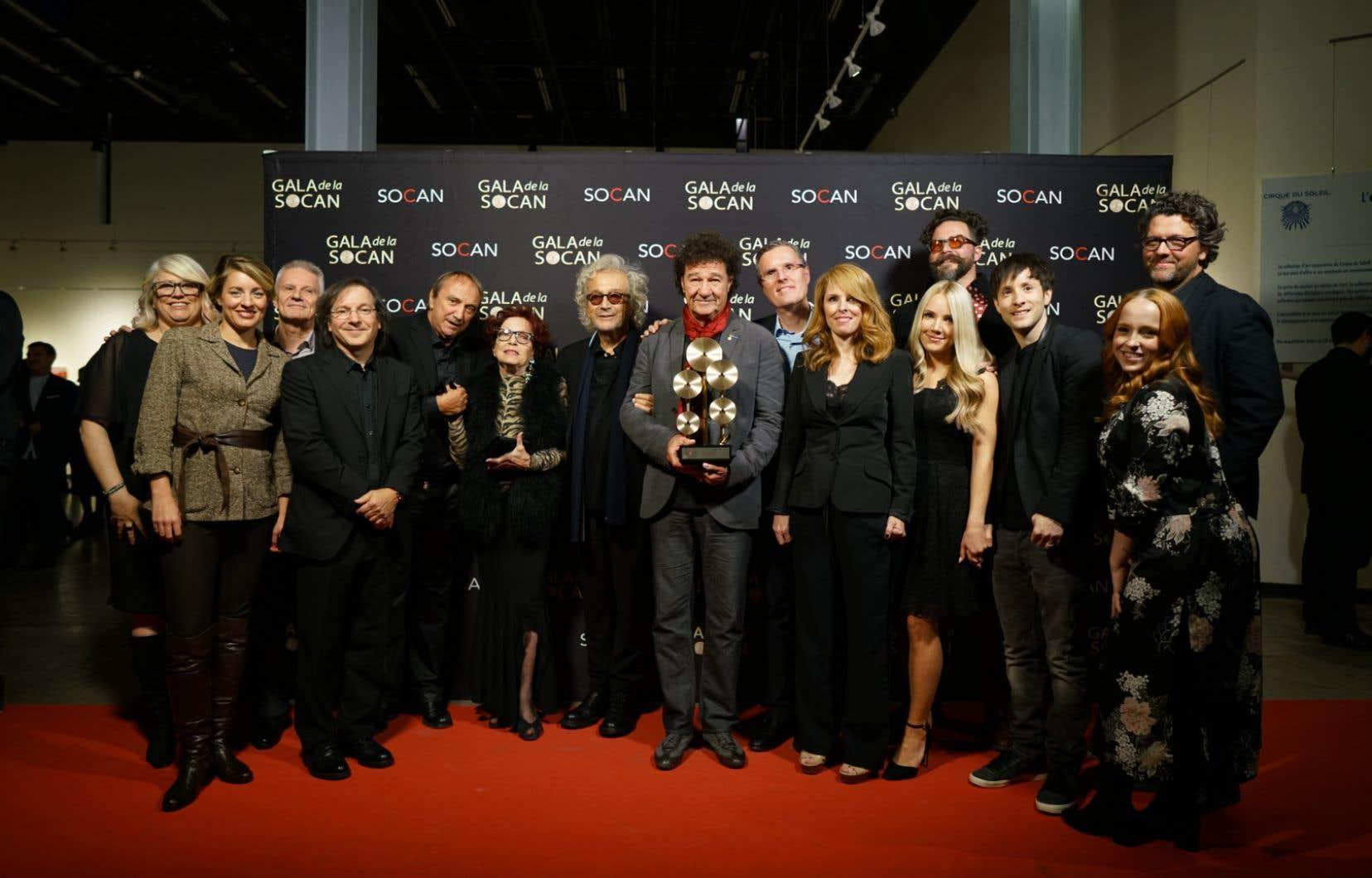Le Gala de la SOCAN, animé par Stéphane Archambault, a multiplié les hommages.