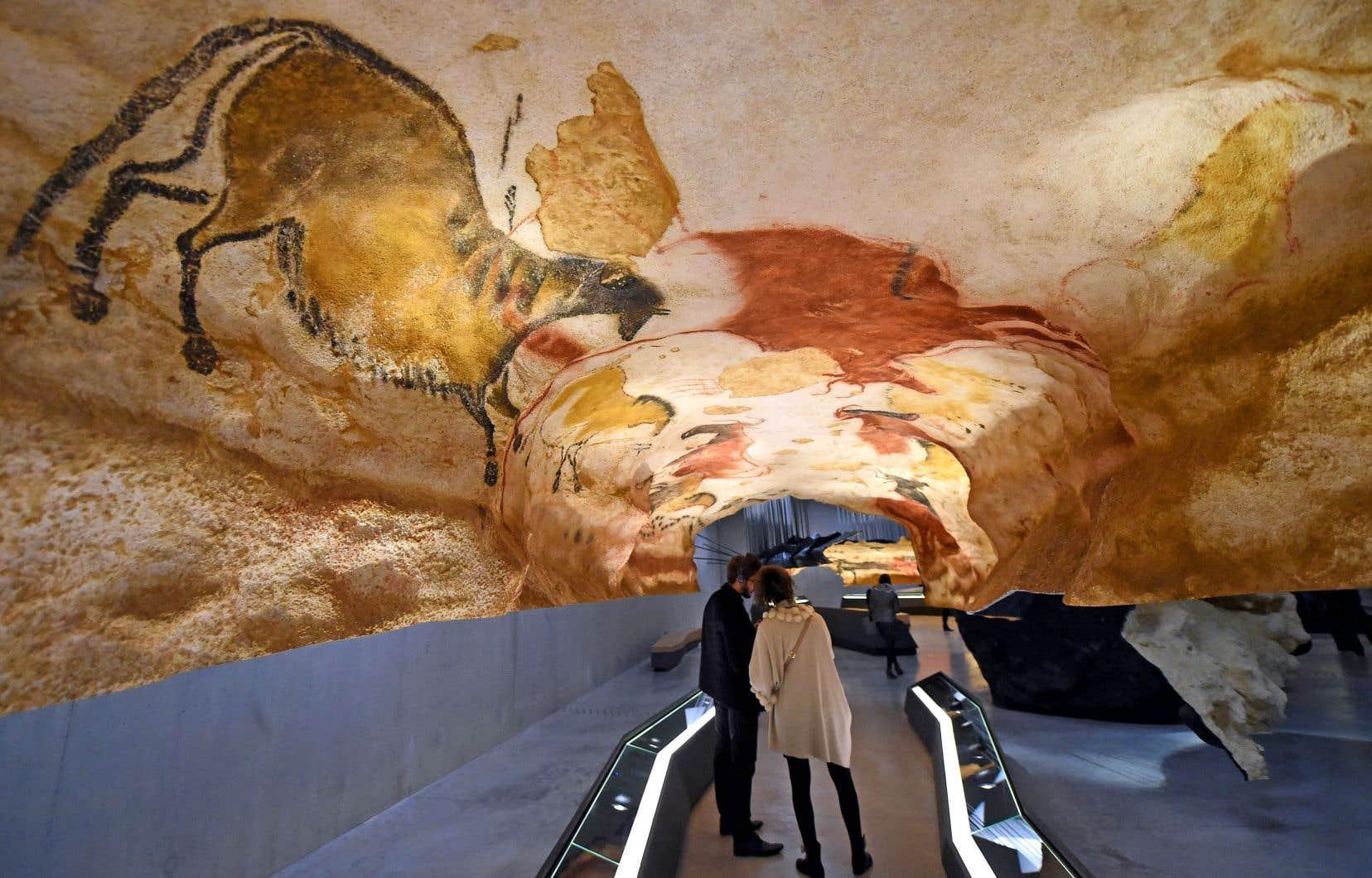Une des répliques des peintures de la grotte de Lascaux à Montignac, dans la Dordogne française.