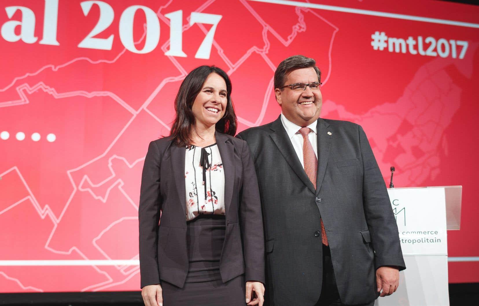 Valérie Plante et Denis Coderre ont participé au seul débat en français de la campagne jeudi soir.