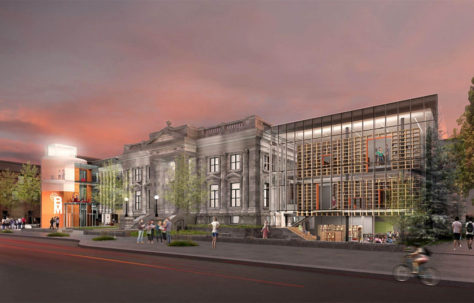 Le jury dit avoir aimé cette proposition «qui met en valeur le bâtiment patrimonial, tant à l'extérieur qu'à l'intérieur».