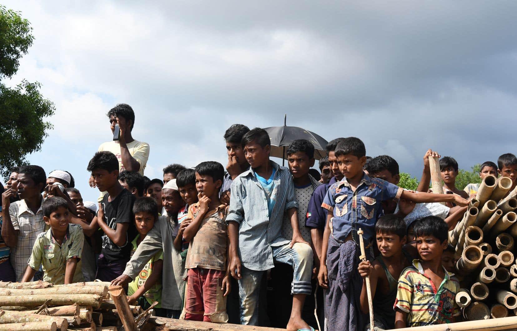 Quelque 900000 Rohingyas se sont réfugiés au Bangladesh pour fuir les violences dont ils sont victimes au Myanmar, dont les deux tiers depuis fin août.