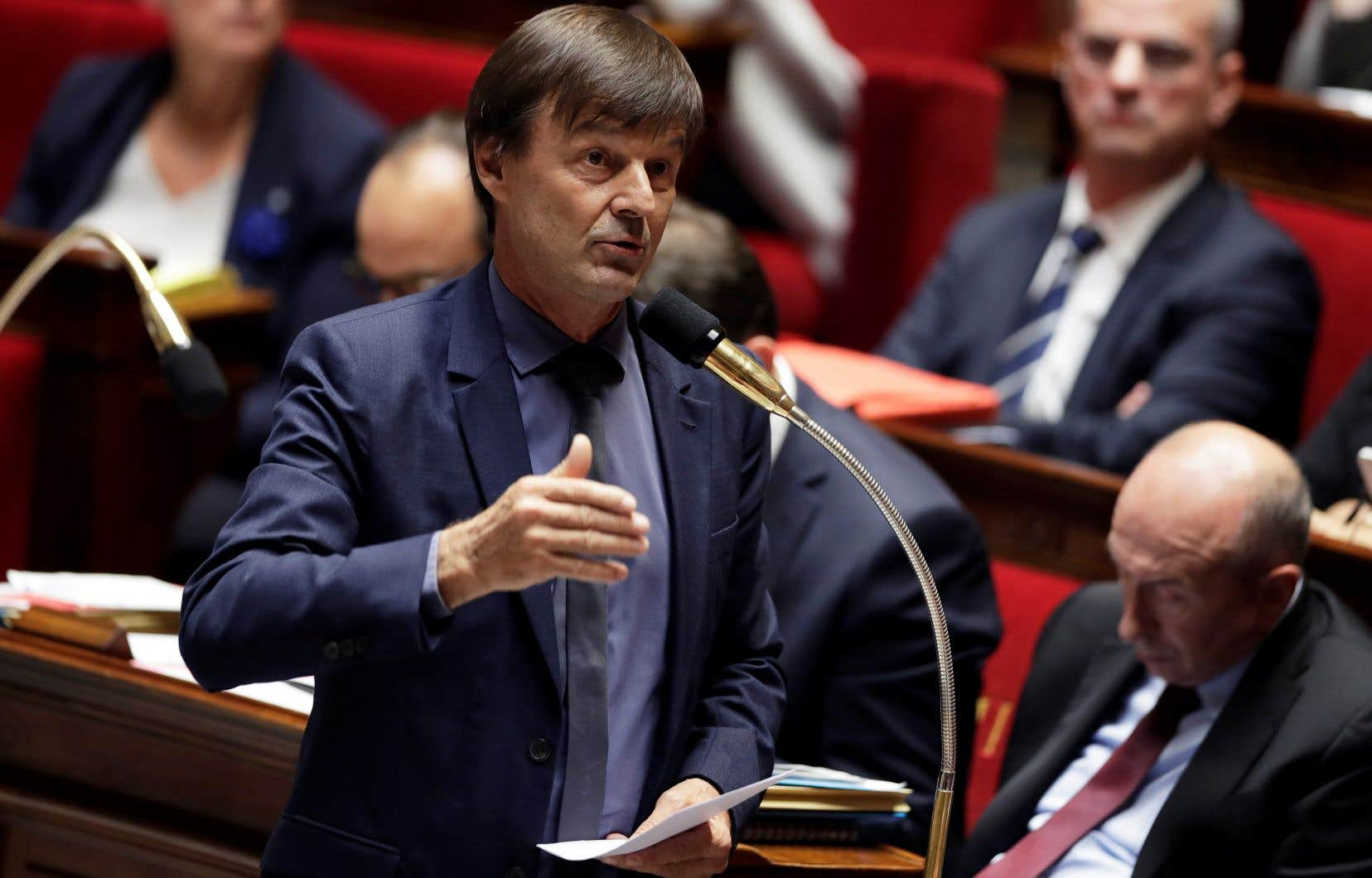 Le ministre français de la Transition écologique, Nicolas Hulot
