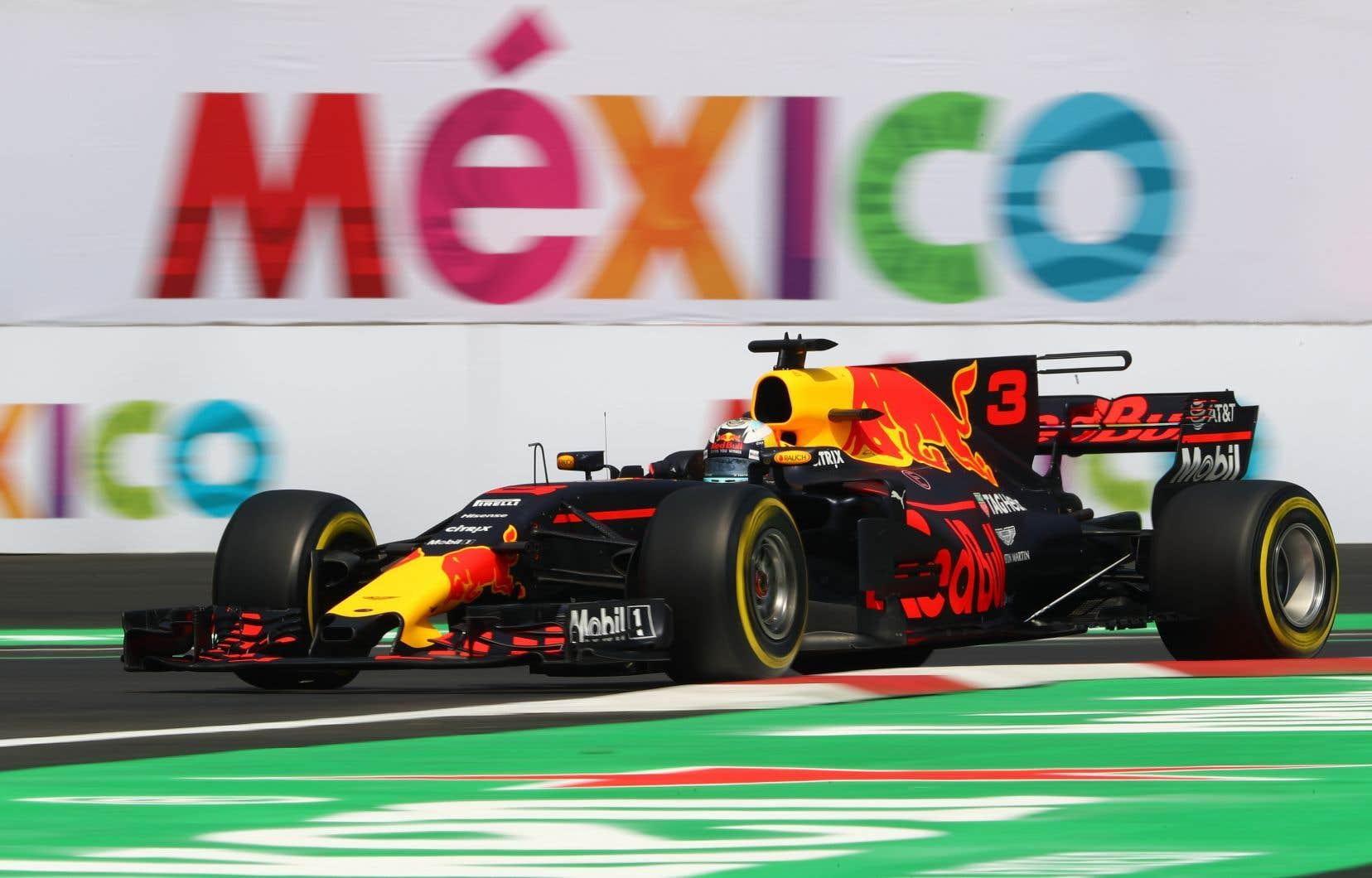 Le pilote DanielRicciardo, de l'équipe Red Bull