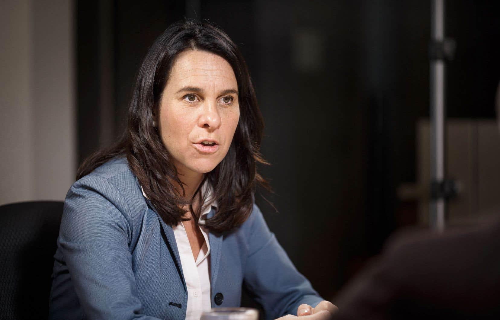Valérie Plante, chef de Projet Montréal et candidate à la mairie, a pris part à une table éditoriale dans les bureaux du «Devoir», vendredi.