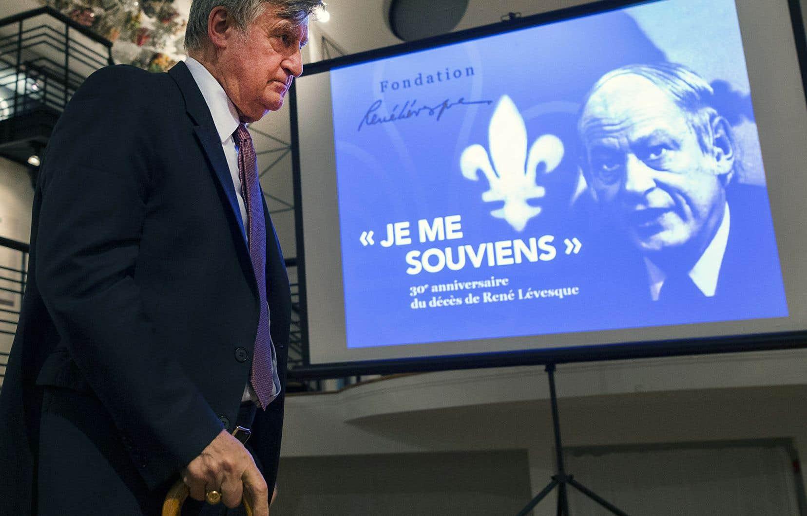 «[Aujourd'hui] tout se passe comme si René Lévesque avait emporté avec lui la ferveur qui a animé le Québec et son époque», a lancé Lucien Bouchard lors de l'hommage organisé mercredi à l'Écomusée du fier monde, à Montréal.