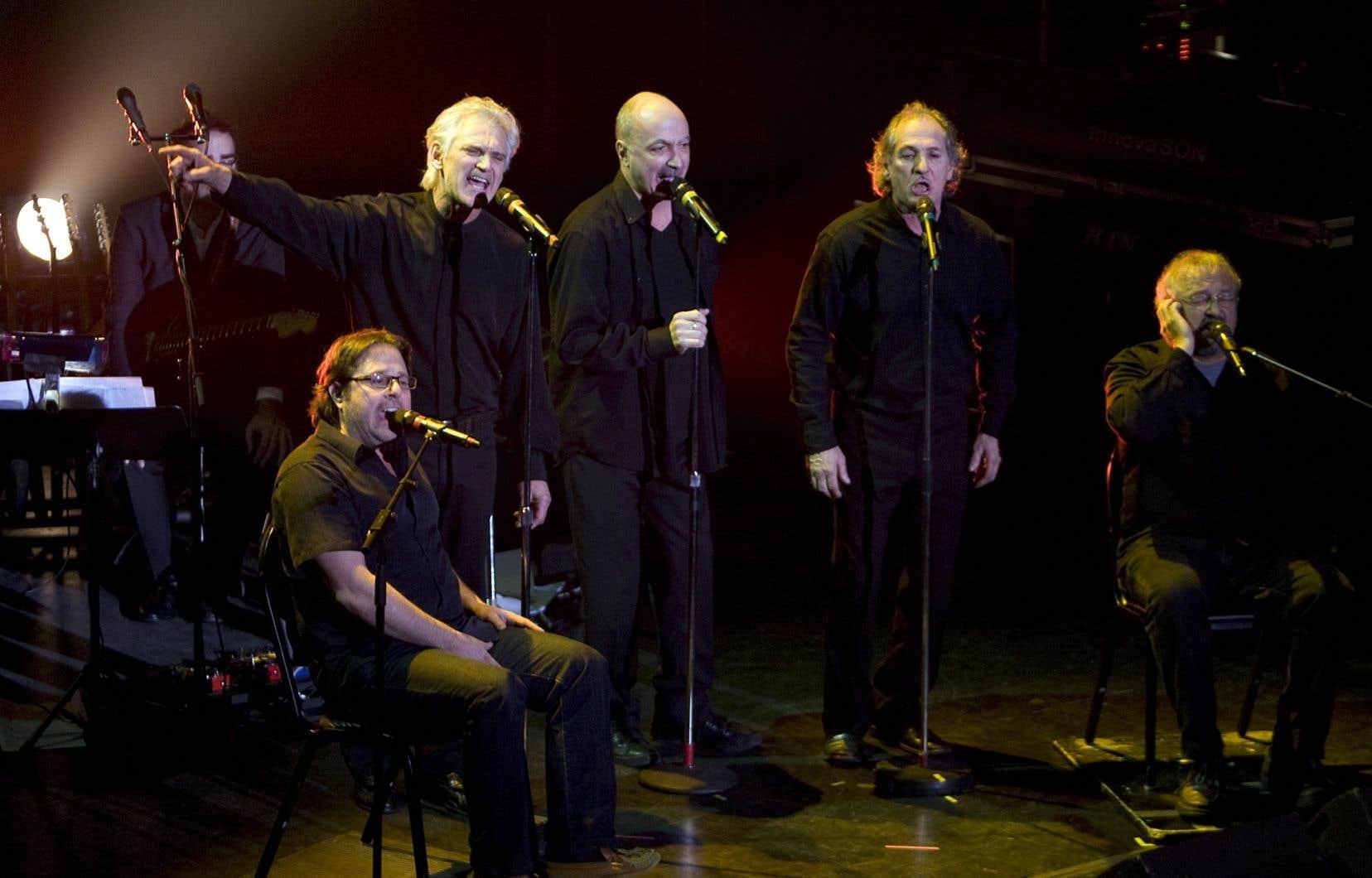 Les Charbonniers de l'enfer lors du spectacle pour les 100 ans du «Devoir» au Metropolis en 2010