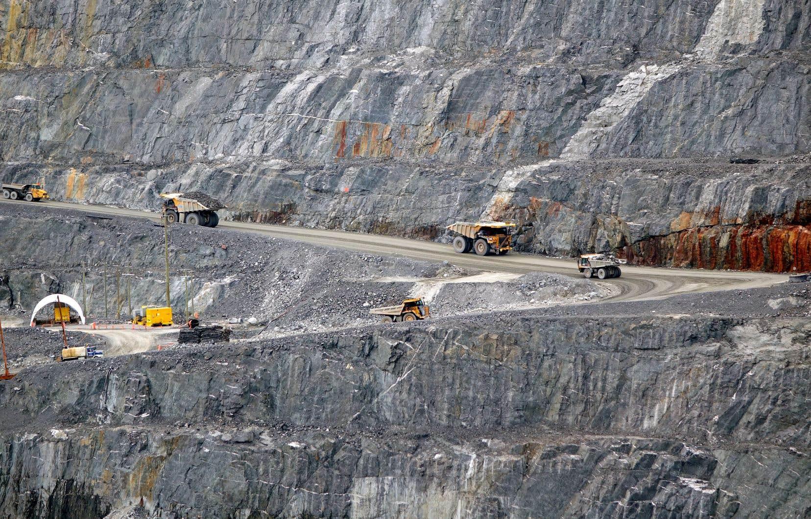 La mine à ciel ouvert d'Osisko à Malartic, en Abitibi-Témiscamingue, a été ouverte en 2011.