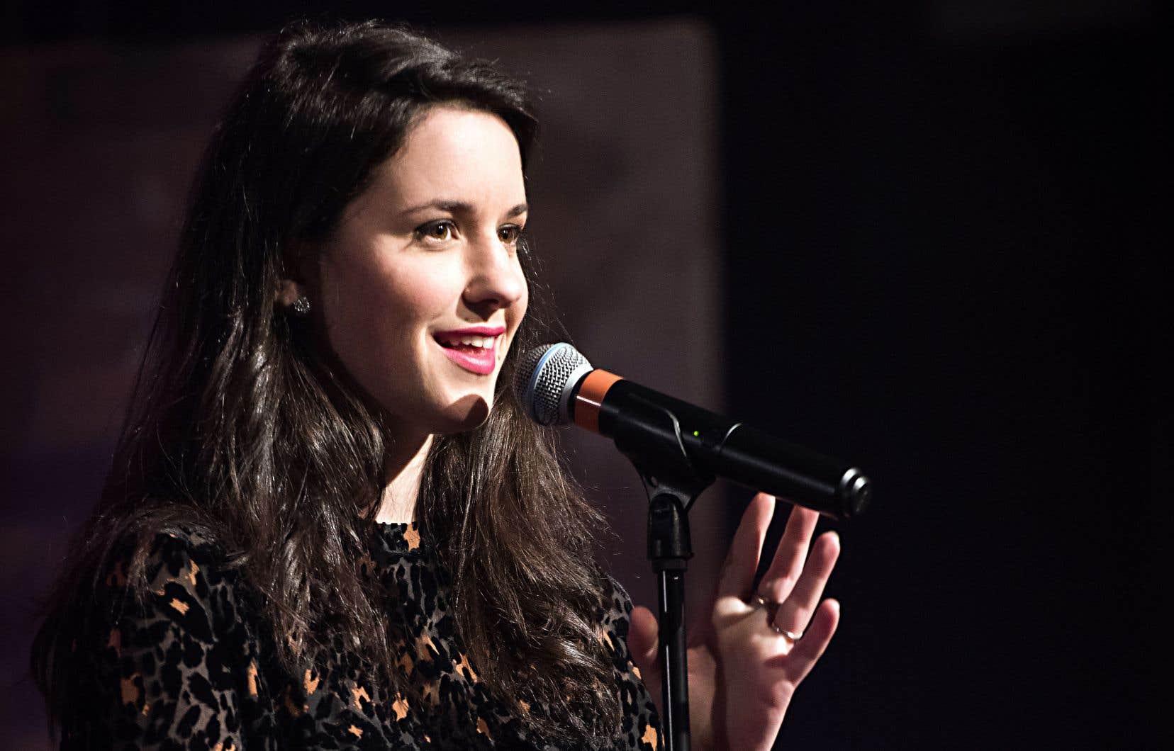 Virginie Fortin commence le rodage de son spectacle solo «Du bruit dans le cosmos» le 24novembre au théâtre Sainte-Catherine, à Montréal.