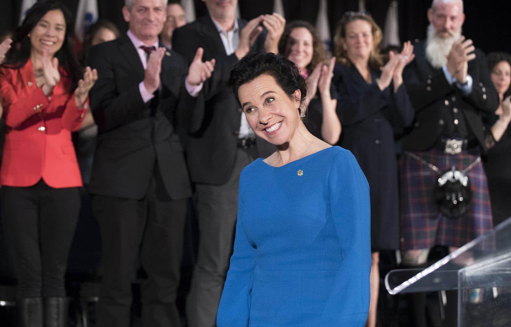 Valérie Plante a prêté serment en compagnie des autres élus montréalais, jeudi après-midi, lors d'une cérémonie au marché Bonsecours.