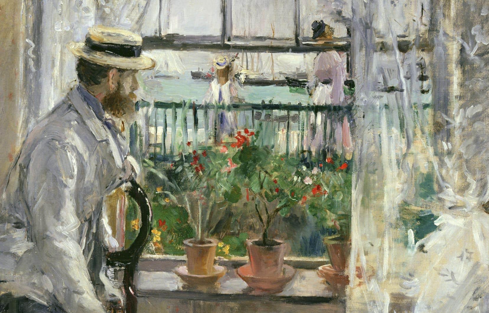 «Eugène Monet à l'île de Wight», 1875, huile sur toile de Berthe Morisot