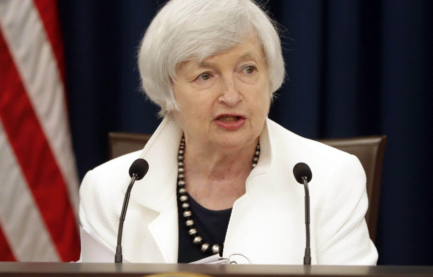 L'actuelle présidente de la Banque centrale américaine, Janet Yellen
