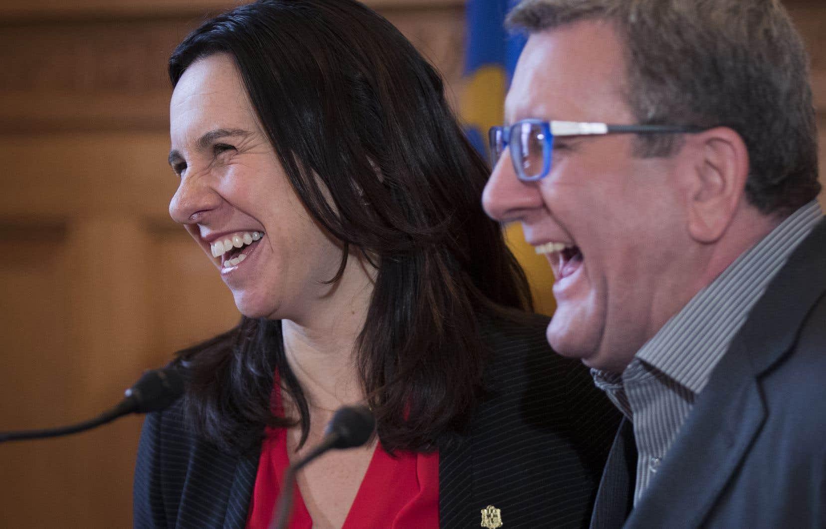 La mairesse de Montréal,Valérie Plante, et le maire de Québec, Régis Labeaume.