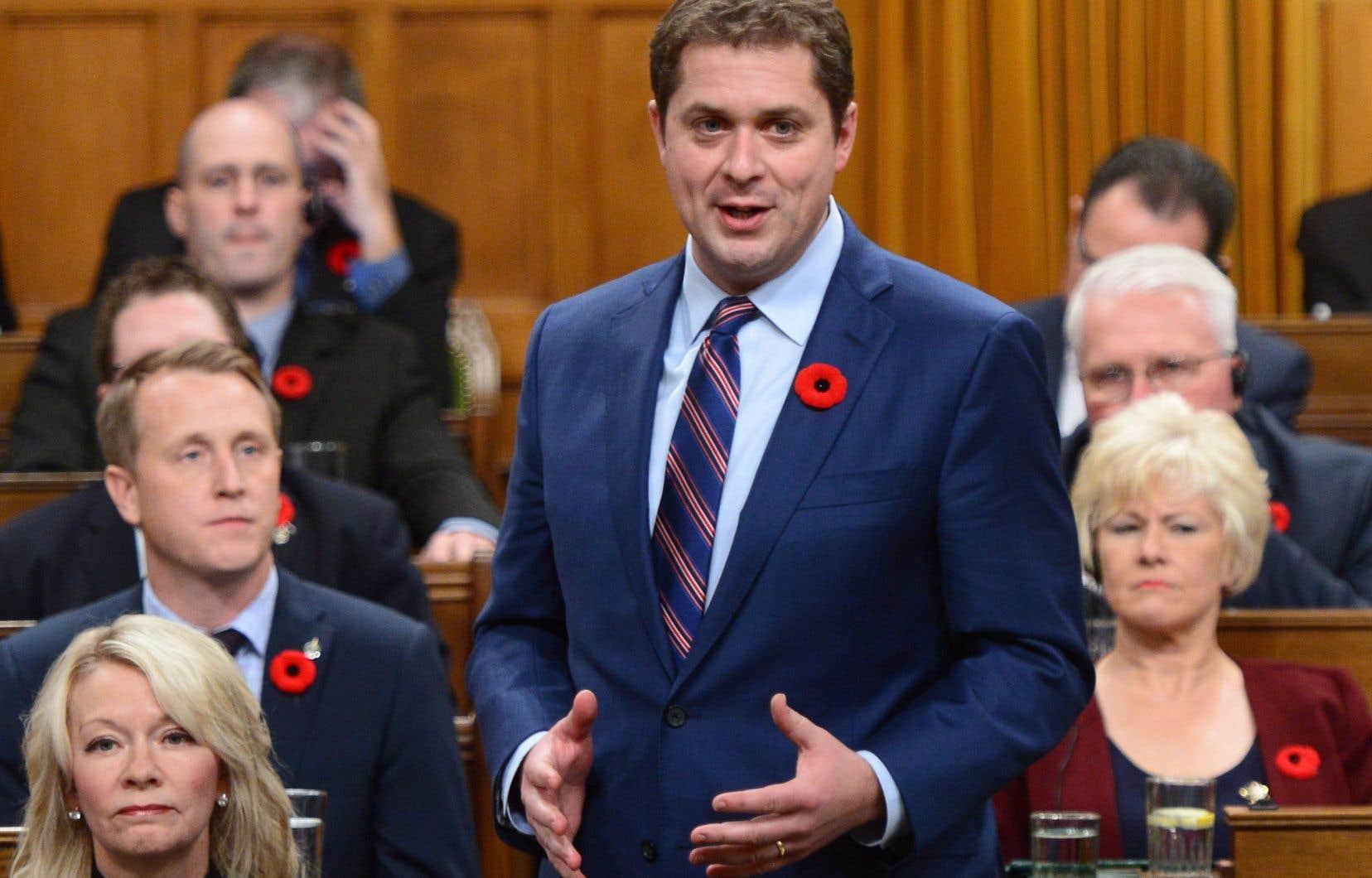 Le chef conservateur Andrew Scheer, le 7 novembre dernier au Parlement