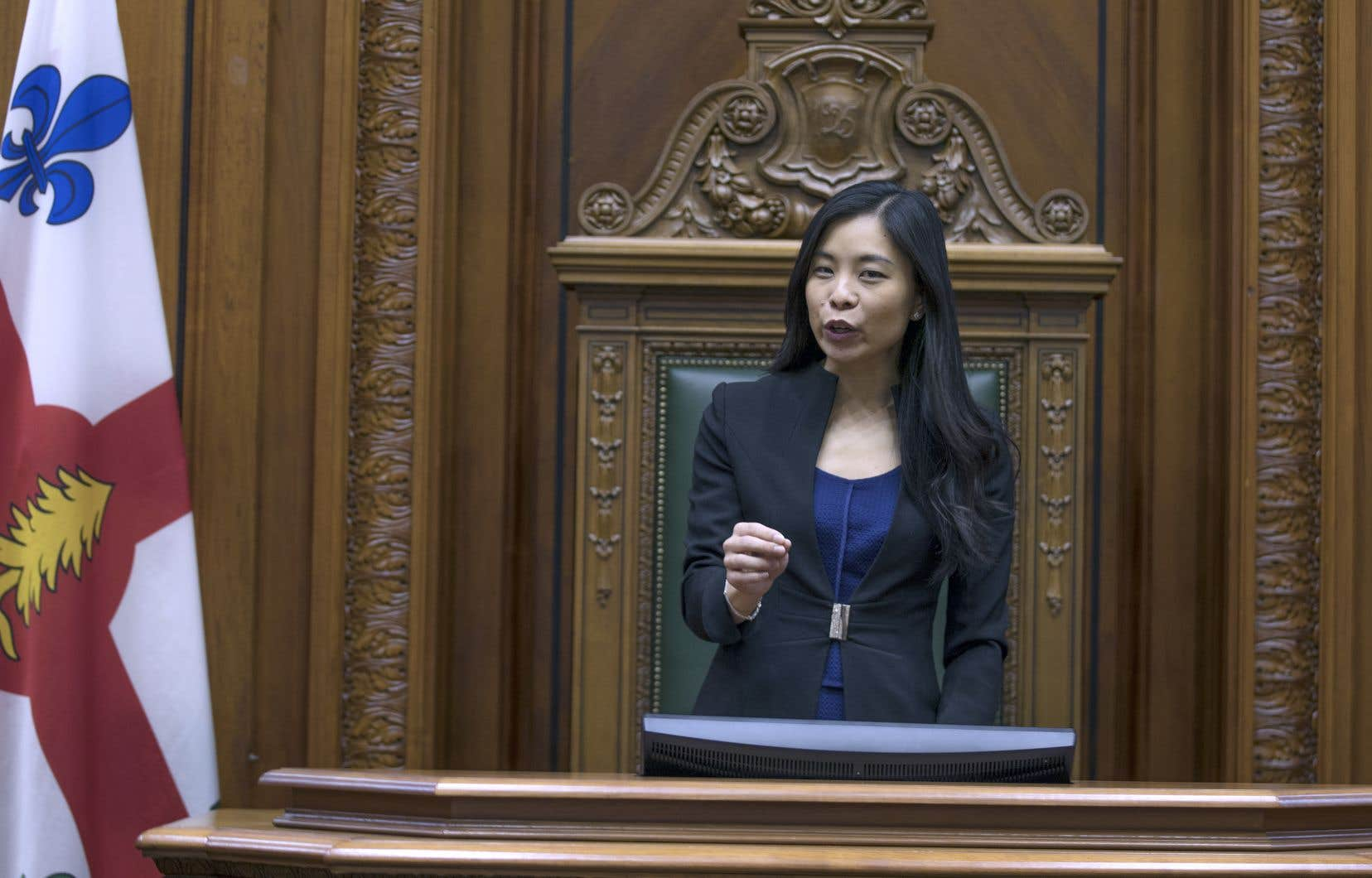 La nouvelle présidente du conseil municipal de Montréal, Cathy Wong