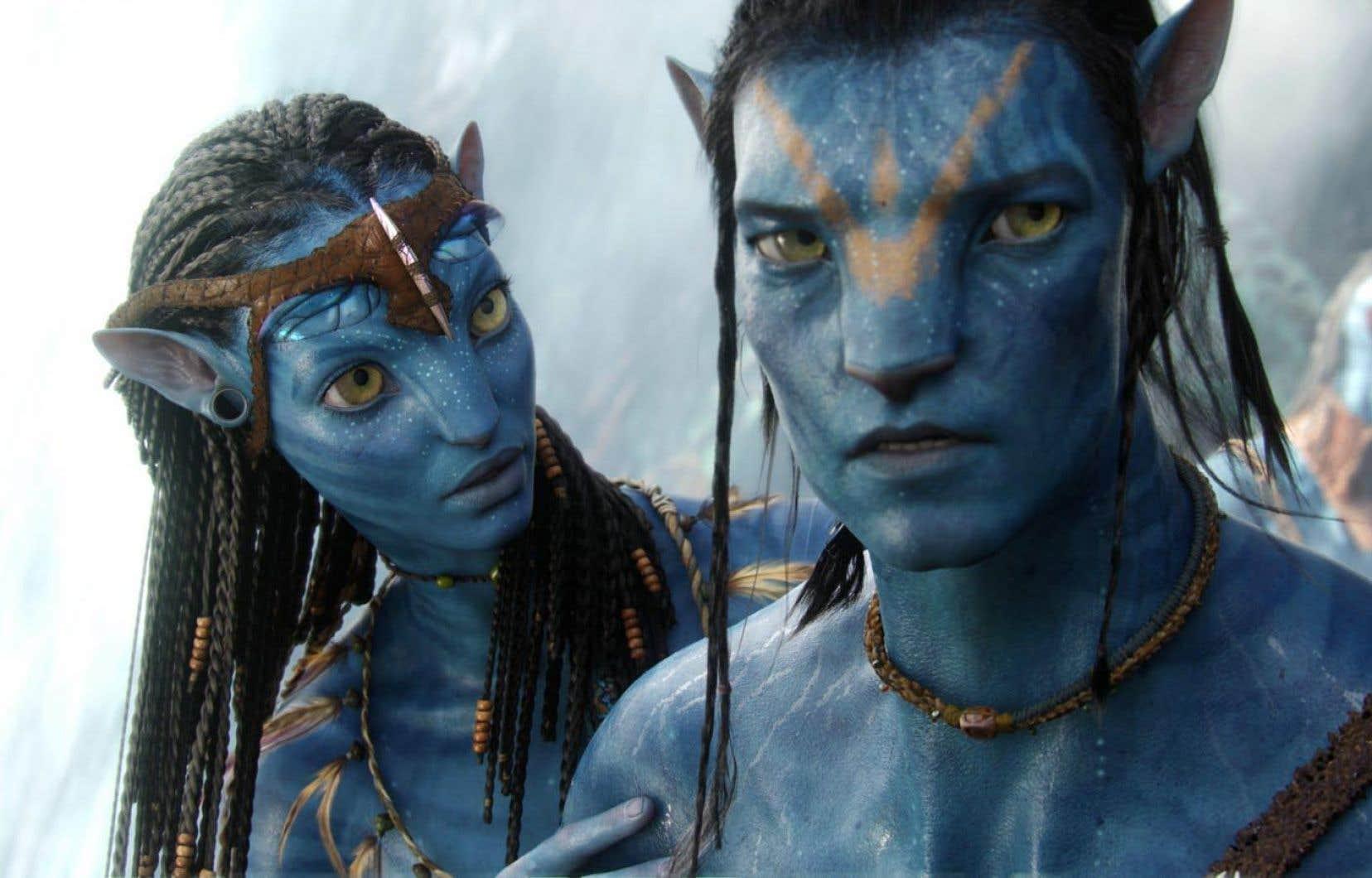 Jake et Neytiri, dans une scène d'Avatar