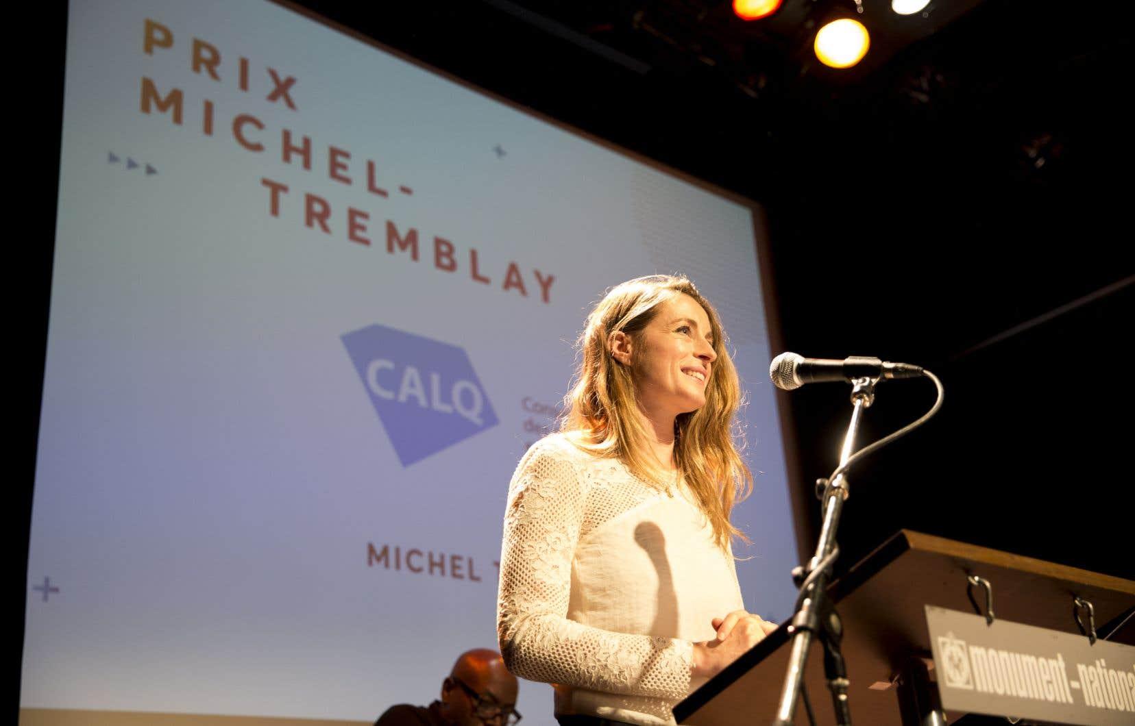 Le prix remis à Christine Beaulieu est accompagné d'une bourse de 20 000$.