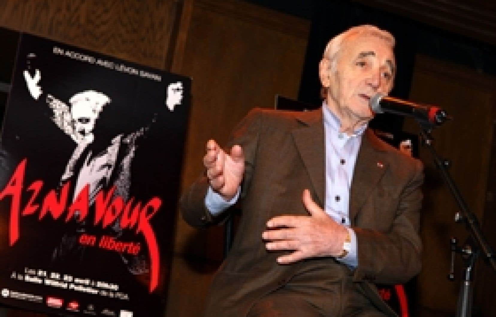 Charles Aznavour présentera un nouveau spectacle en avril prochain.