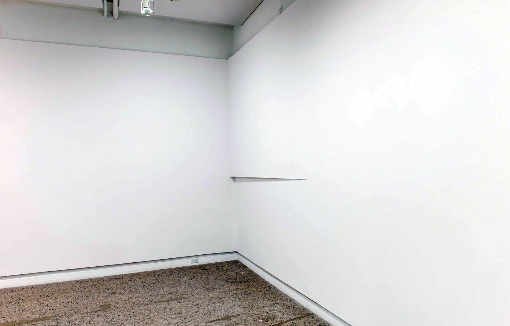 Teja Gavankar, «Split Corner», 2017 (techniques mixtes in situ, dimensions variables)