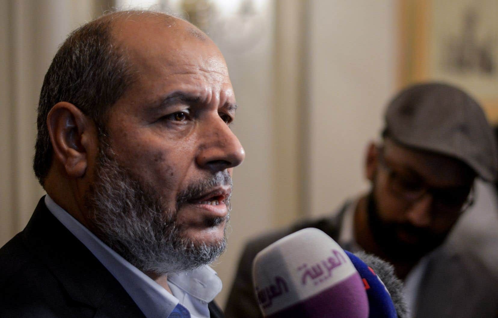 Le leader du Hamas, Khalil al-Hayya, lors d'une conférence de presse au Caire, en Égypte, le 22 novembre dernier
