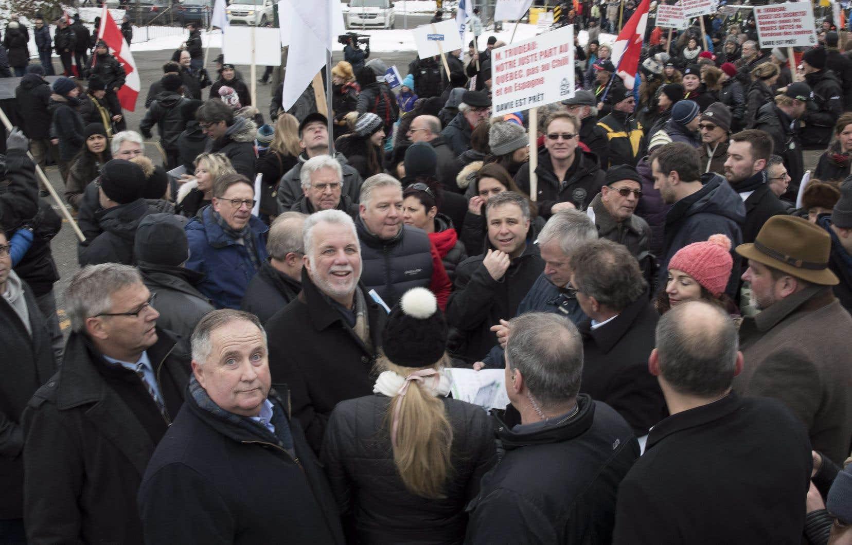 Des politiciens fédéraux se sont aussi déplacés pour participer à cette marche de solidarité.