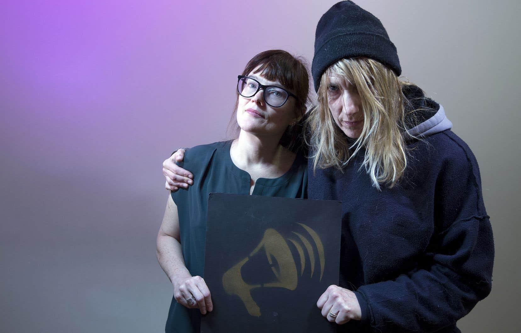 Le «Cabaret Tollé» est un acte de contestation politique et de défoulement festif mis sur pied par Miriam Ginestier (à gauche) et auquel participera l'artiste Tammy Forsythe.