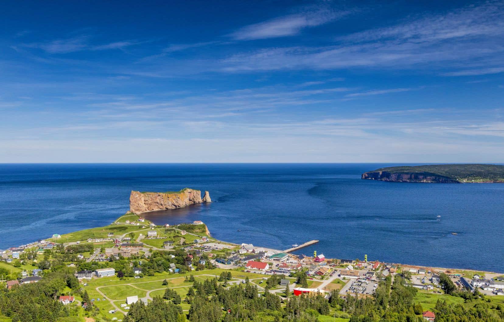 Le paysage de Percé, en Gaspésie