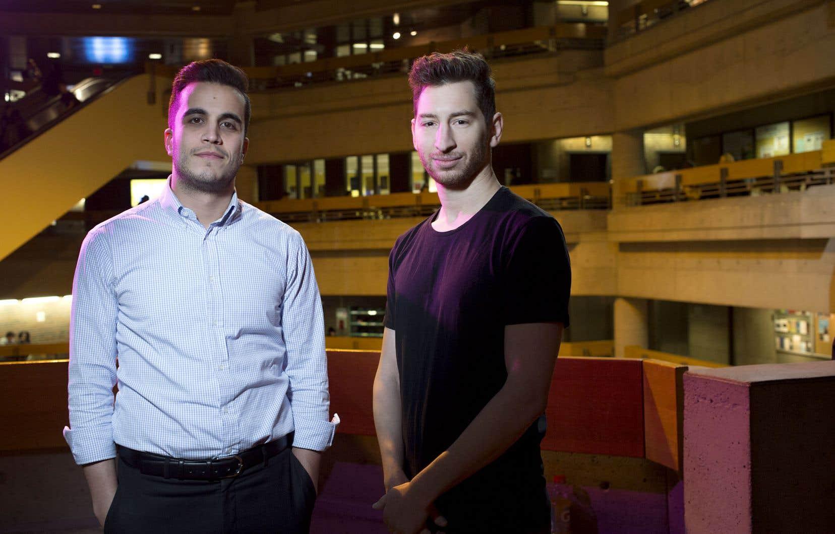 Julien Nolin et Michael Hasenfratz, deux des trois jeunes entrepreneurs derrière Helpr