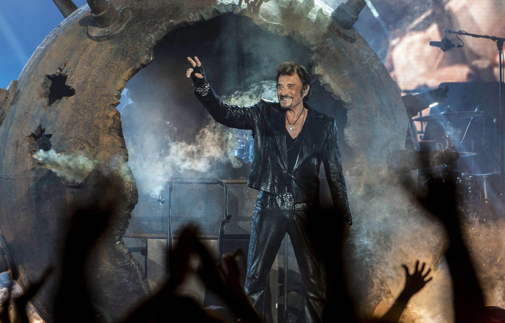 Johnny, véritable bête de scène, lors d'un concert au Centre Bell, à Montréal, le 4octobre 2012