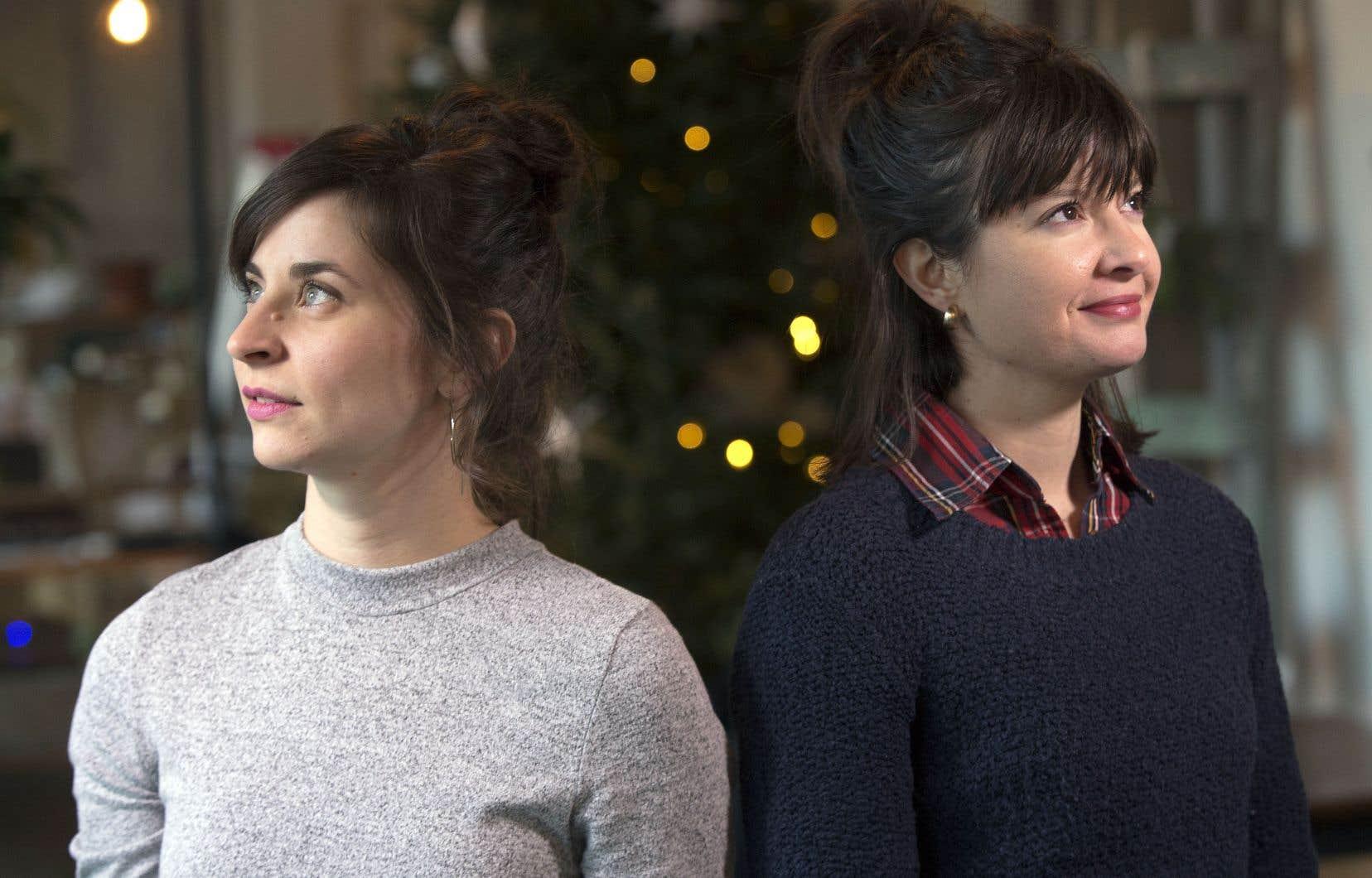 La pulsion d'écrire des chansons a surgi alors que les deux amies, Sonia Cordeau (à gauche) et Raphaëlle Lalande, vivaient une rupture amoureuse simultanément.