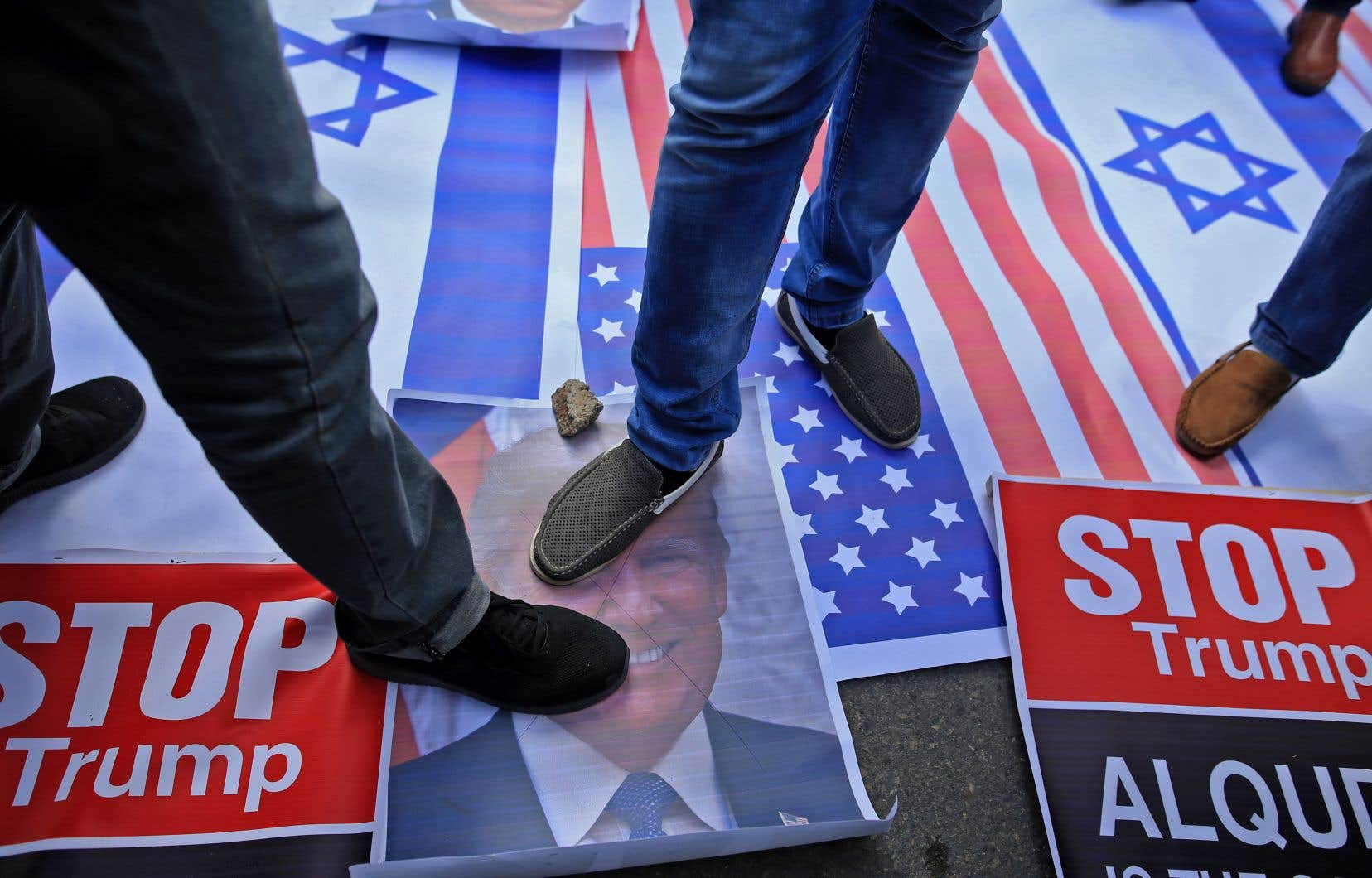 L'annonce par les États-Unis de reconnaître Jérusalem comme capitale d'Israël et d'y déplacer l'ambassade américaine a suscité de nombreuses réactions. Sur notre photo: une manifestation à Gaza.