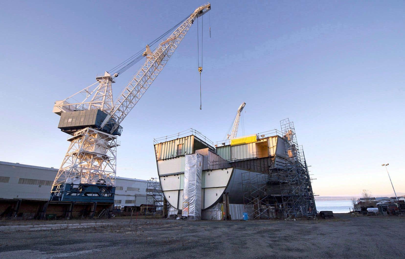 Le chantier naval Davie, à Lévis