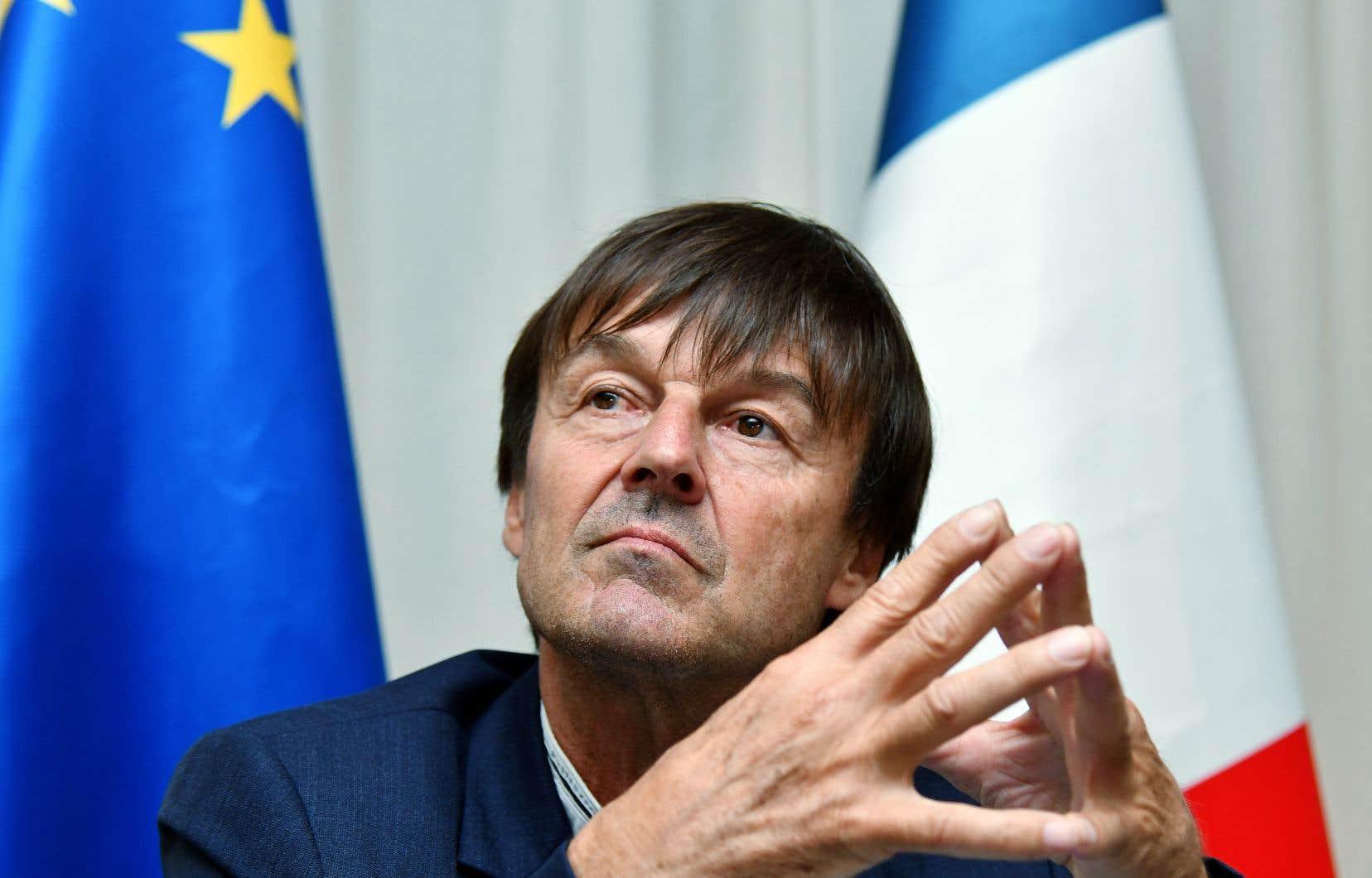 Le ministre français de la Transition écologique et solidaire, Nicolas Hulot