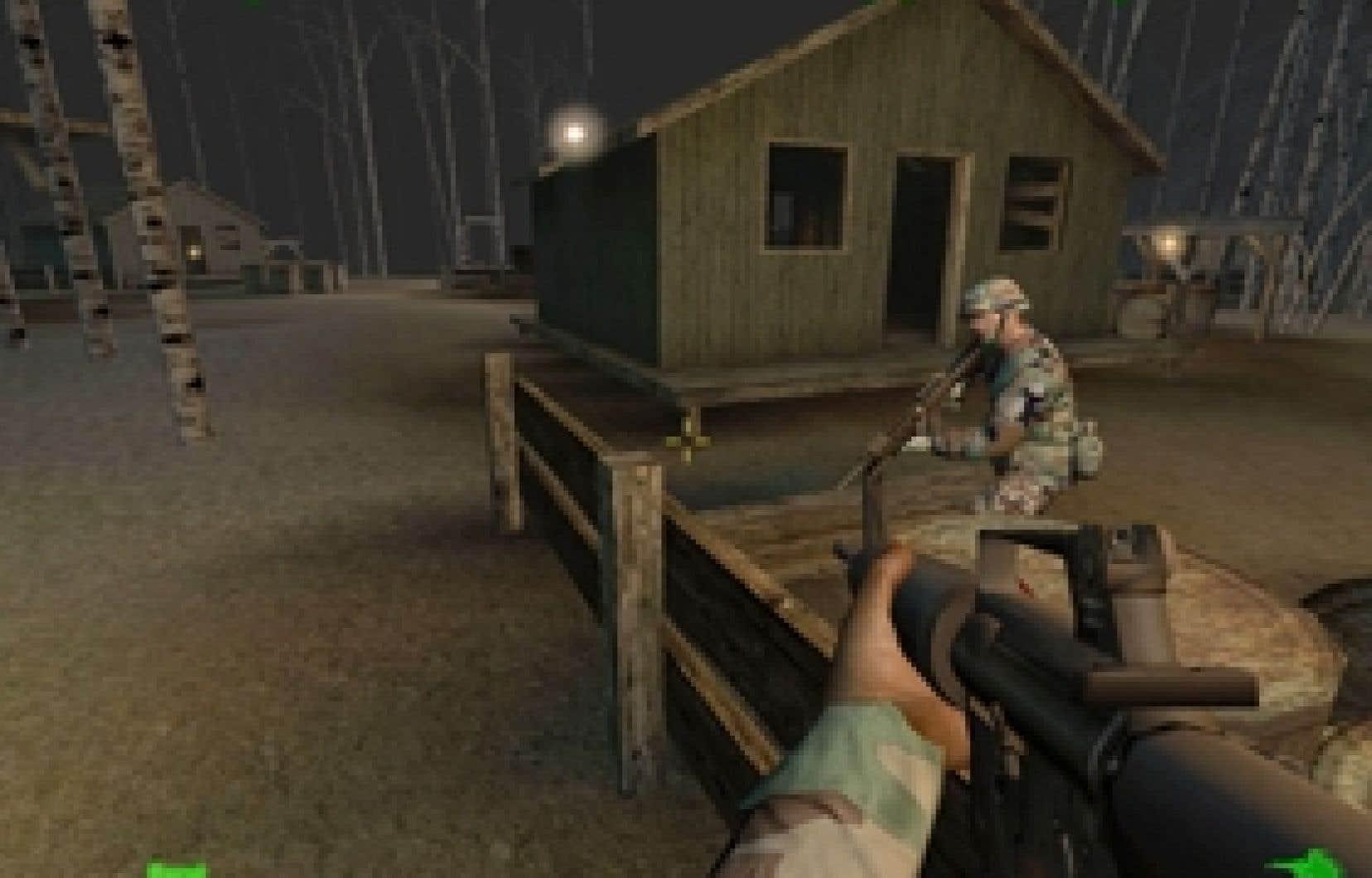 Le logiciel de simulation America's Army est utilisé par l'armée américaine pour former les soldats.