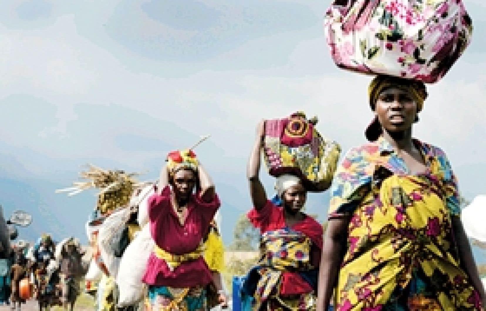 Le flot quotidien des réfugiés hier en République démocratique du Congo (RDC).
